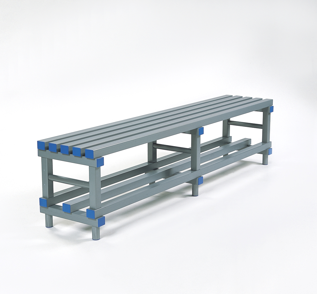 Standard Bench in PVC plastic for gyms and Dressing rooms
