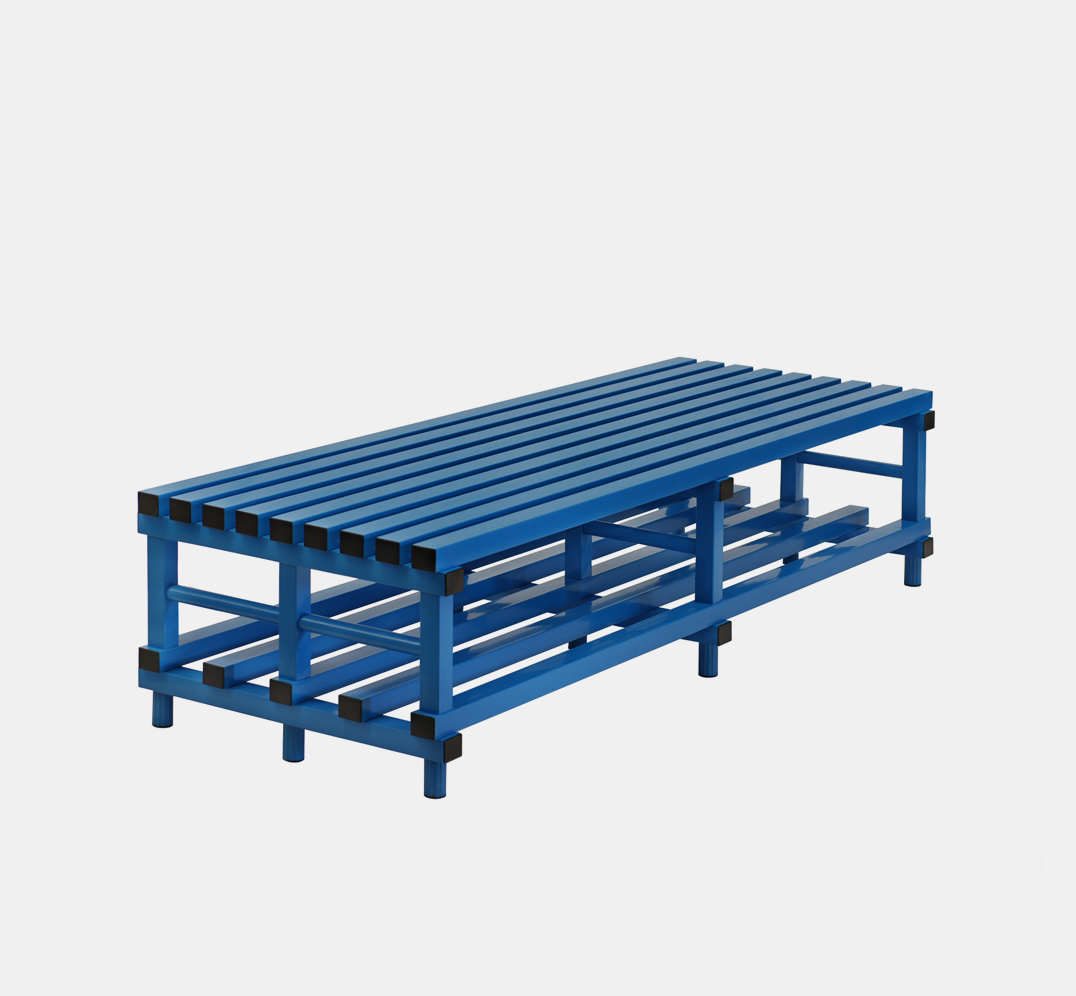 Double Bench in Plastic for Changing Room