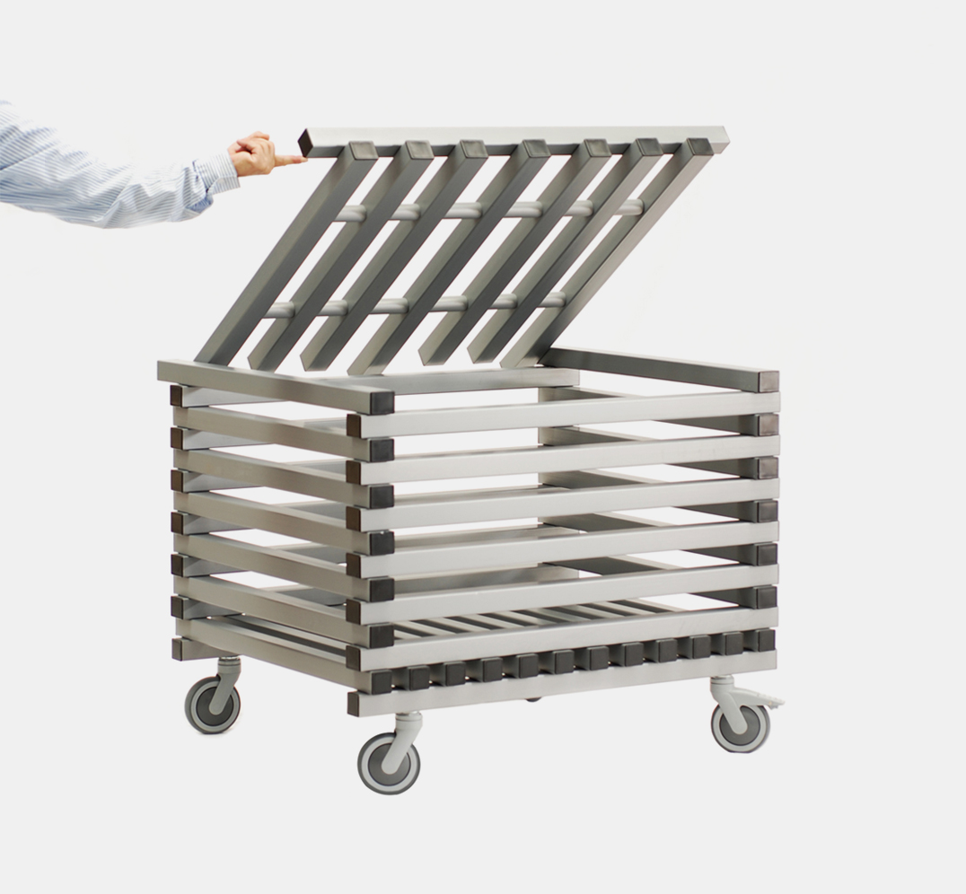Small storage trolley