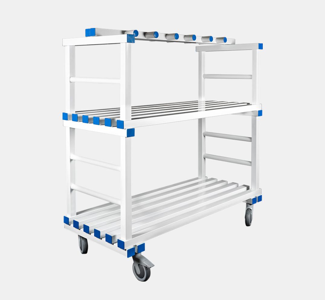 Multipurpose Trolley with Hanger Rack