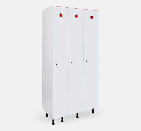 3 row locker 300mm width in PVC for changing rooms.