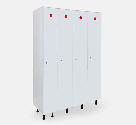 4 row locker 300mm width in PVC for changing rooms