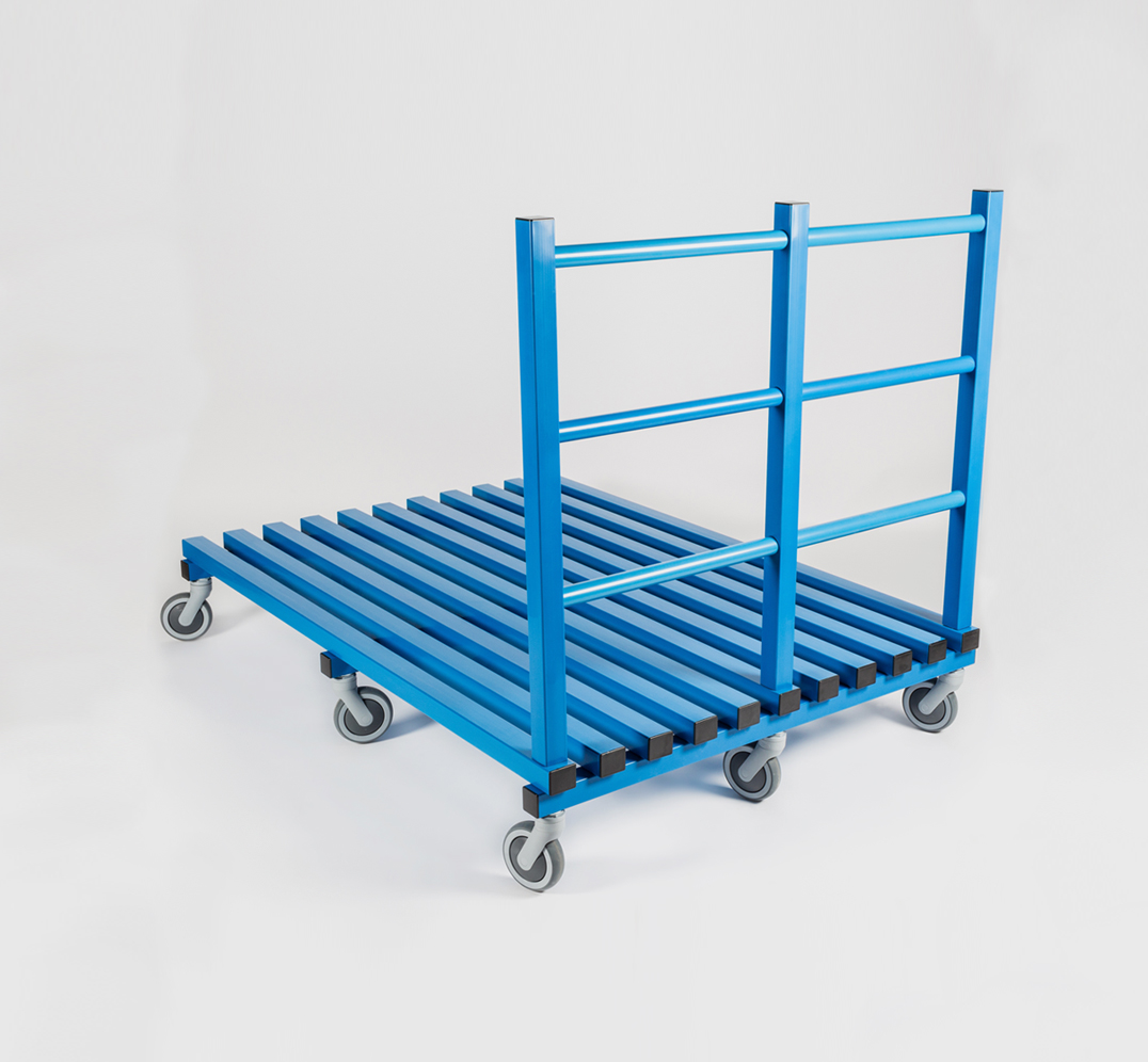 Steps and Fitness Equipment Trolley