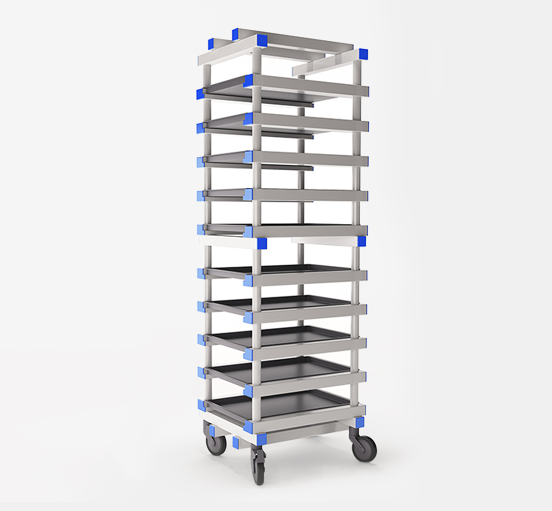 PVC plastic trolley for the catering and hospitality industry