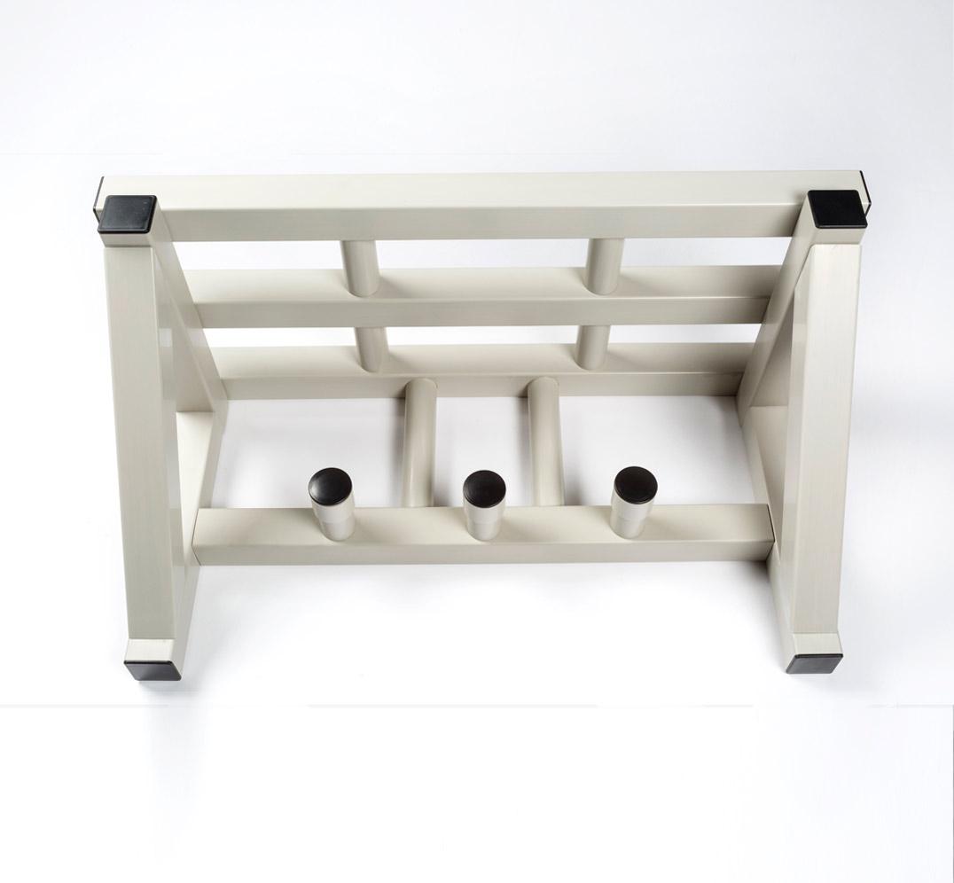 Coat rack with upper shelf