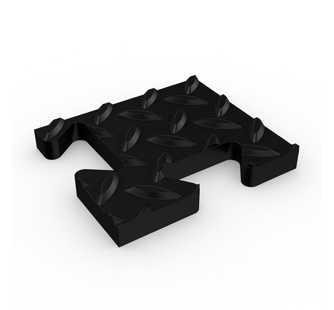 Diamond solid surface tile