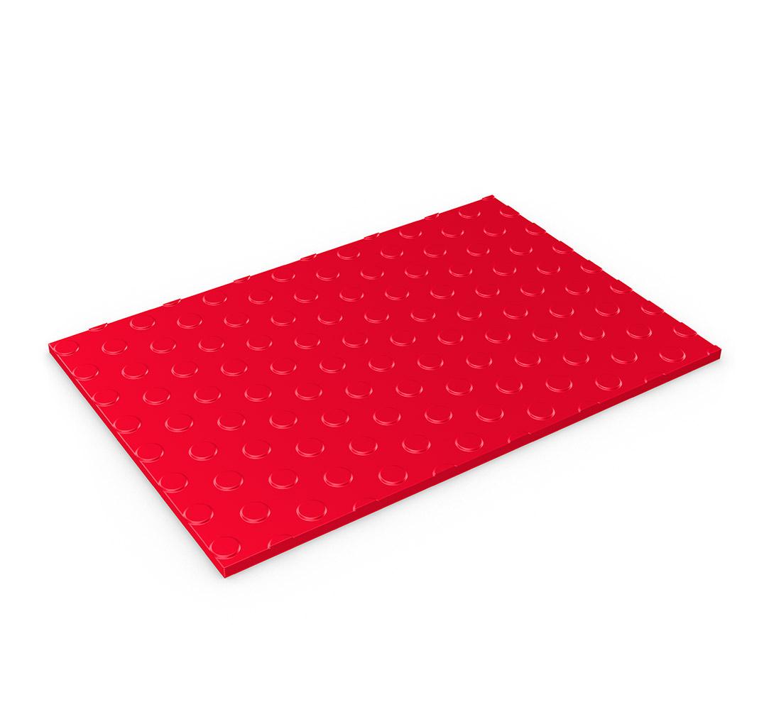 Dot pattern vinyl flooring - Model FLEXI-DOT. Red