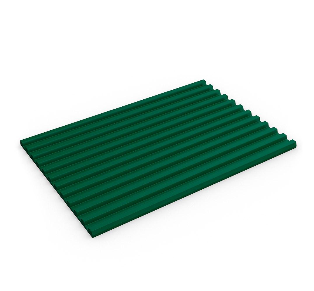 Industrial ribbed mat - Model FLEXI-RIDGE. Green