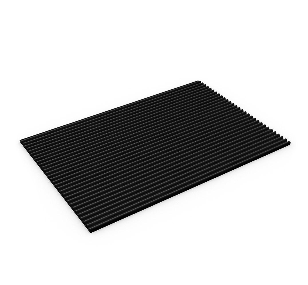 Industrial vinyl flooring - Model FLEXI-LINE. Black