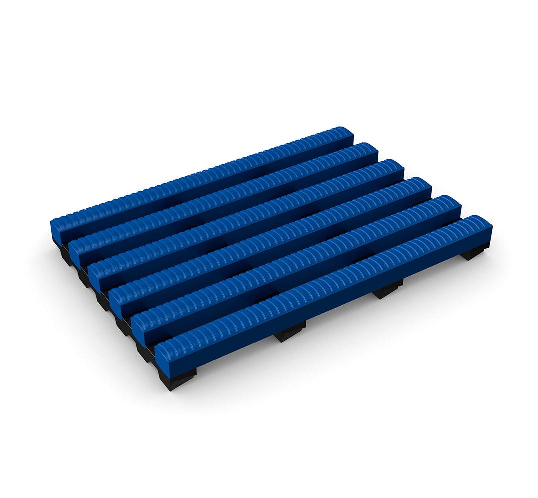Self-draining barefoot matting