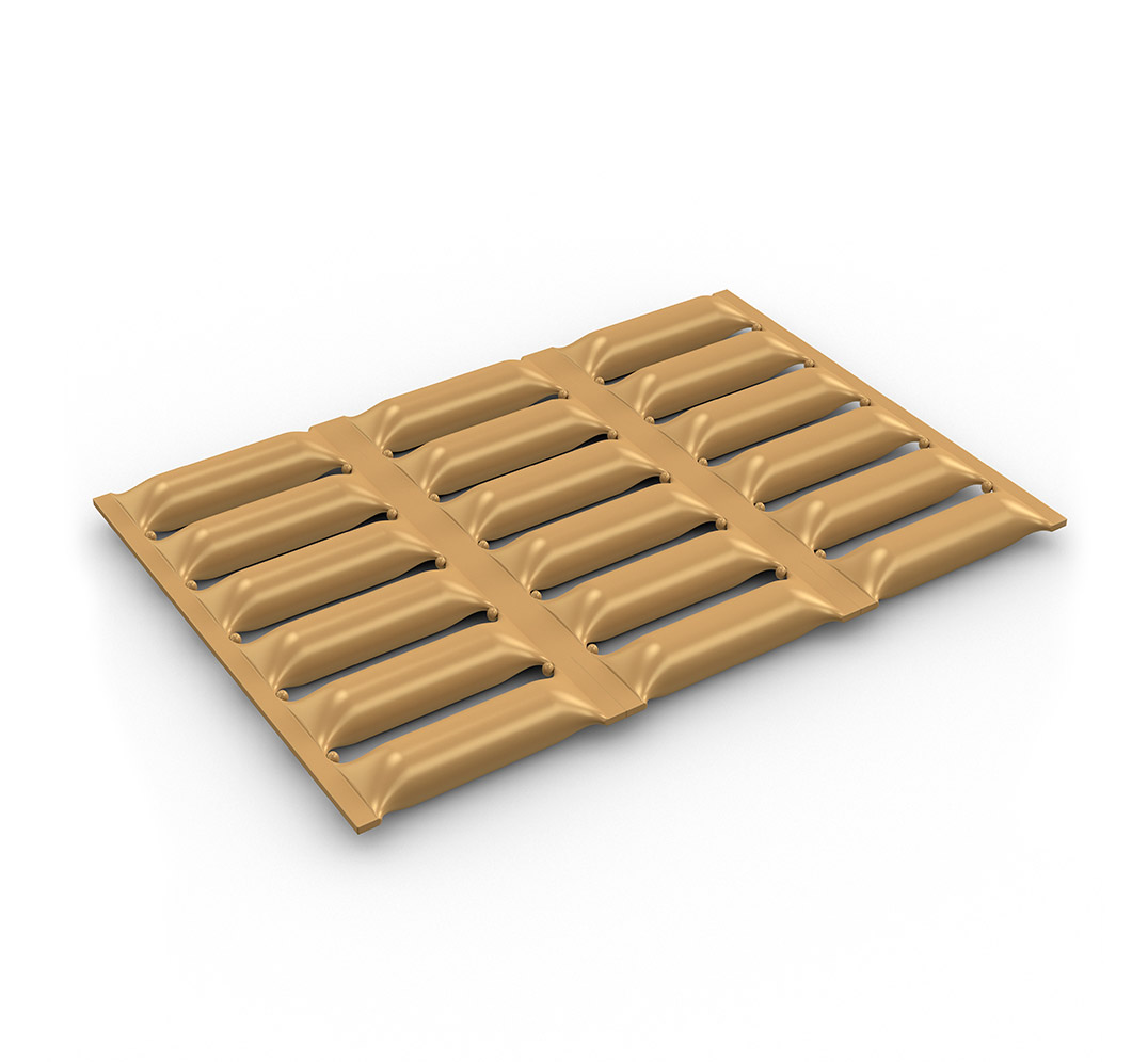Cushioned protection mat