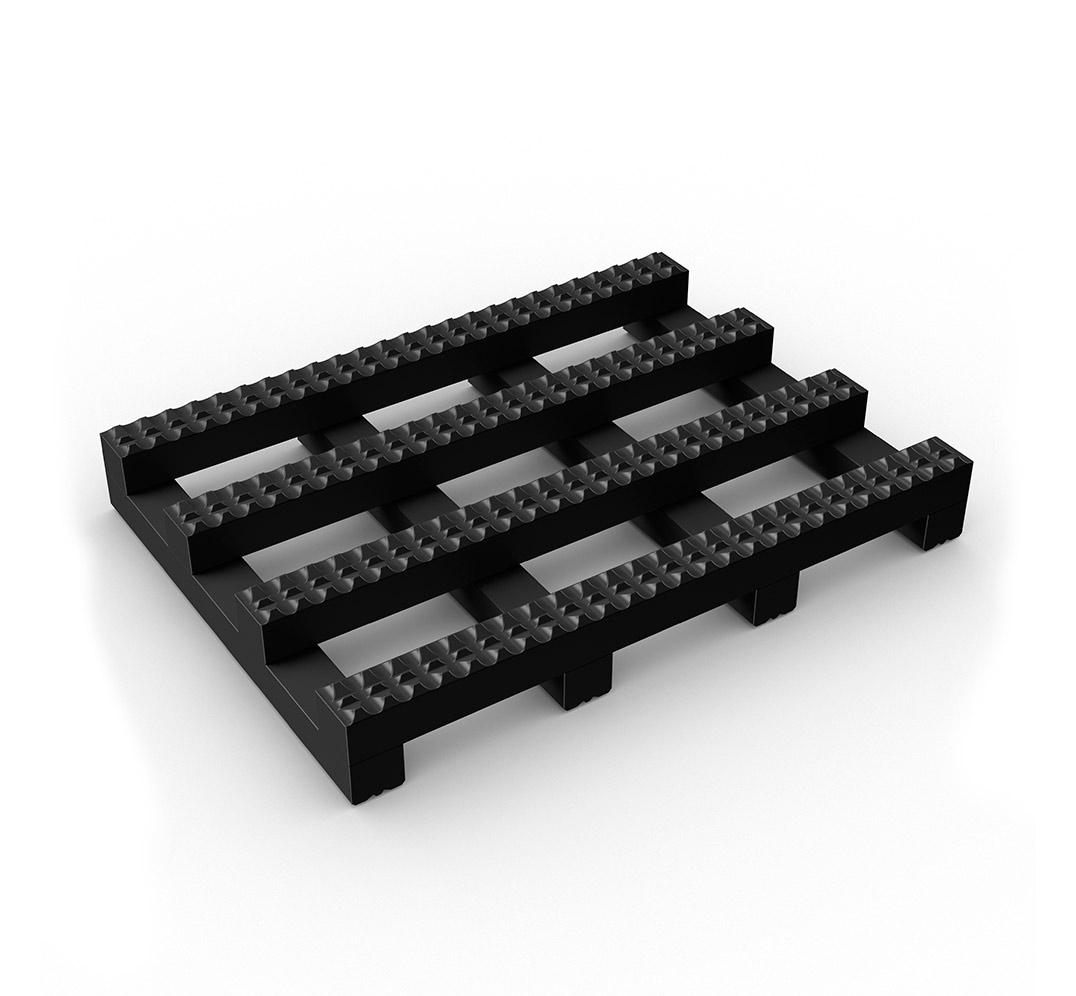 TRACKGRIP wide grid mat - black.