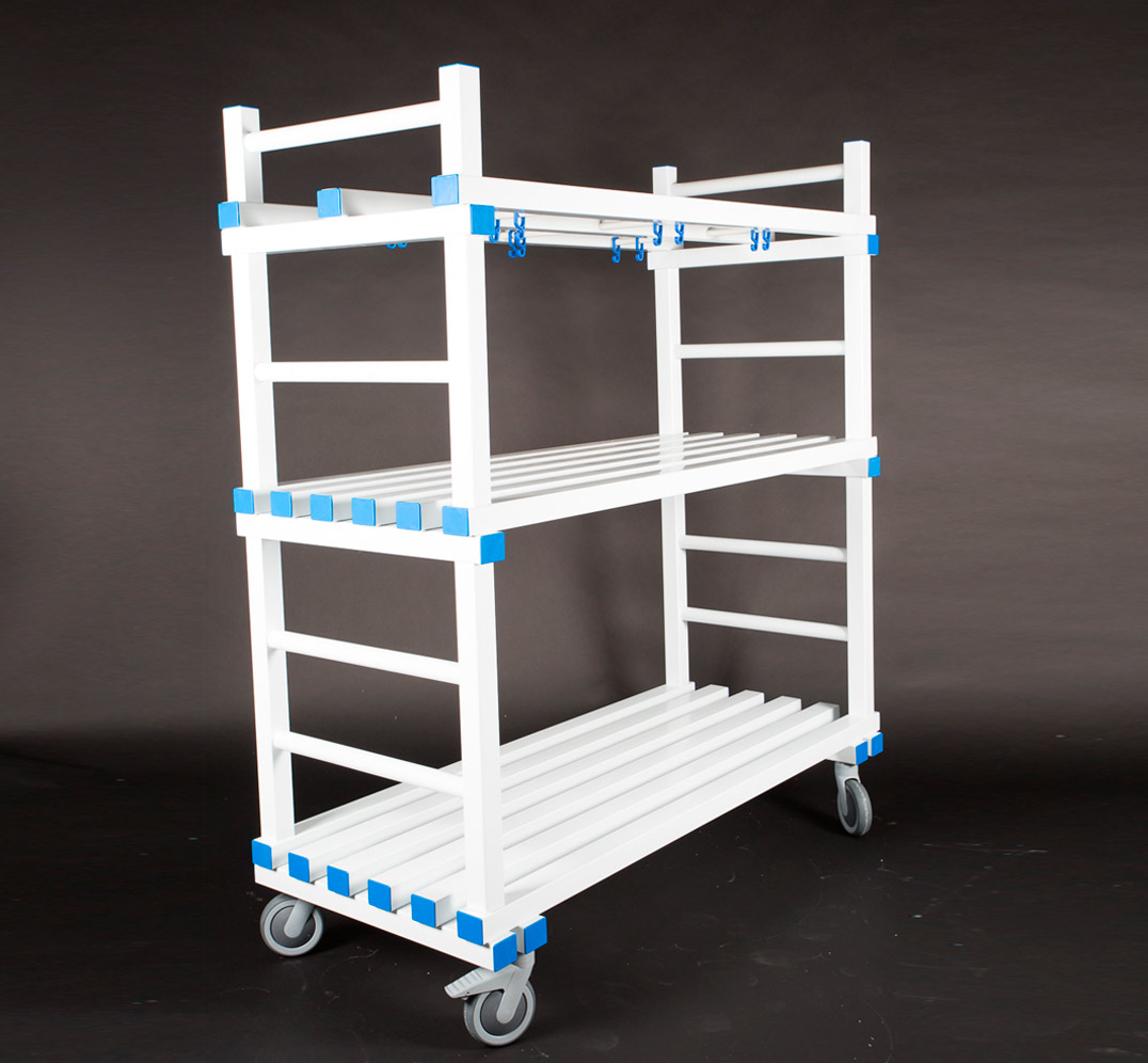 MULTIPURPOSE TROLLEY WITH HANGERS