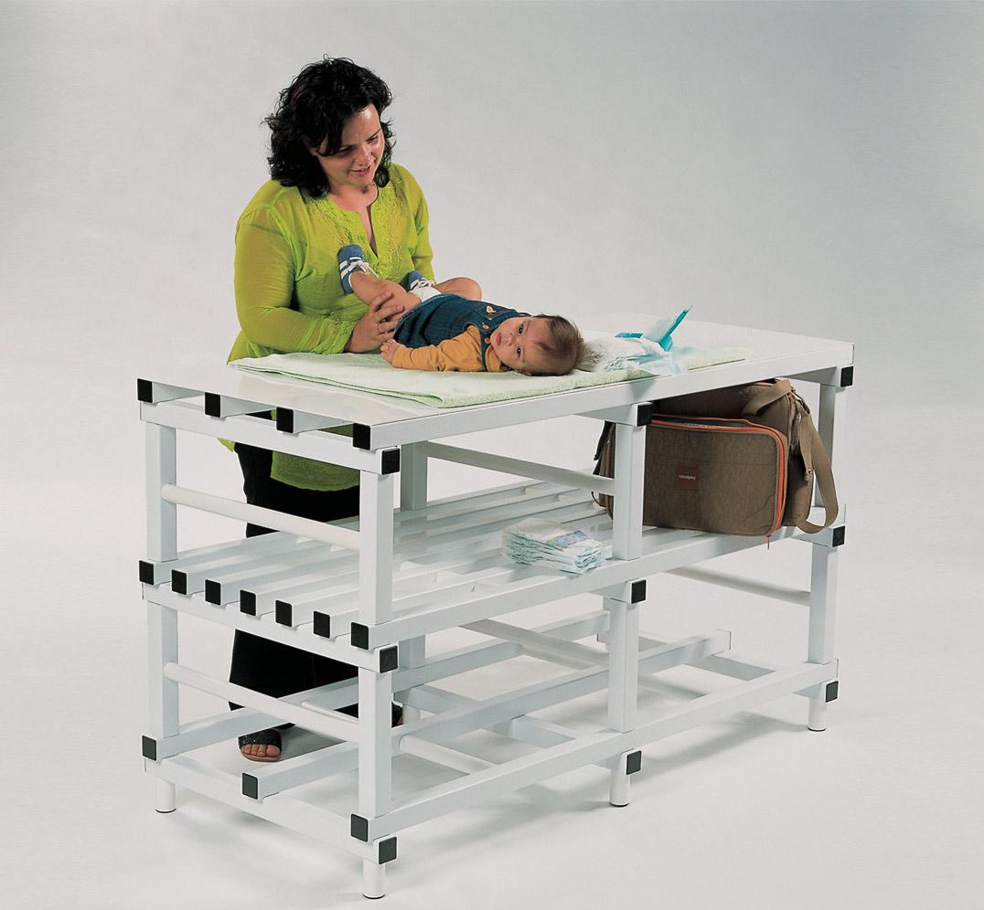 Cambiador de Bebé para Hostelería y Vestuarios de PVC