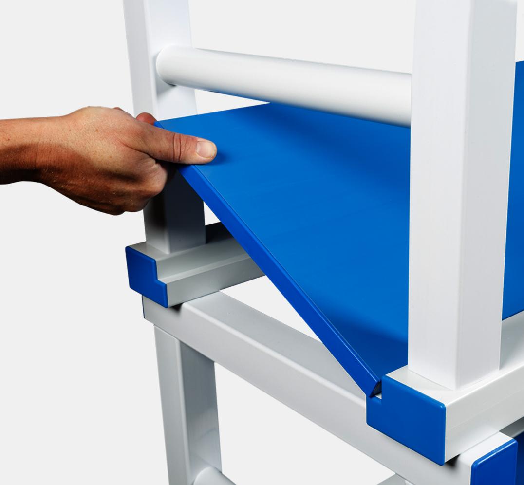 Detalle Estantería Modular Planchas Lisas de PVC