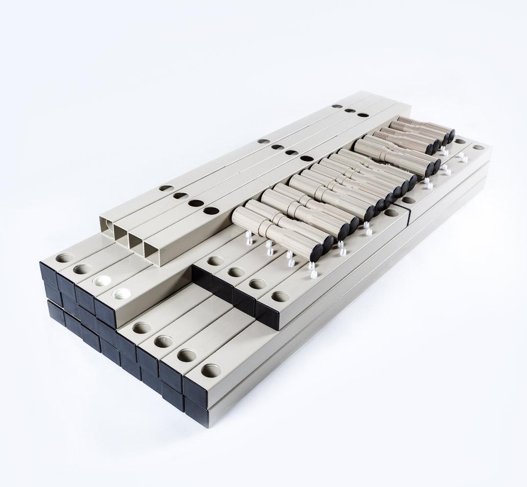 Estantería Modular de PVC- desmontada