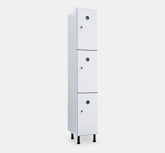 Taquilla para vestuario - 300mm - 1 módulo - 3 puertas