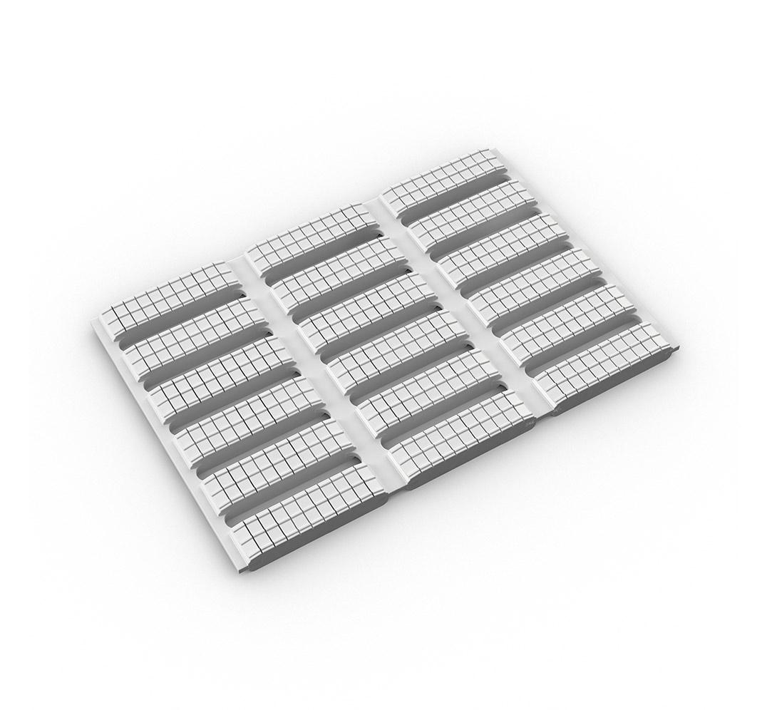 Floorline, muestra en blanco
