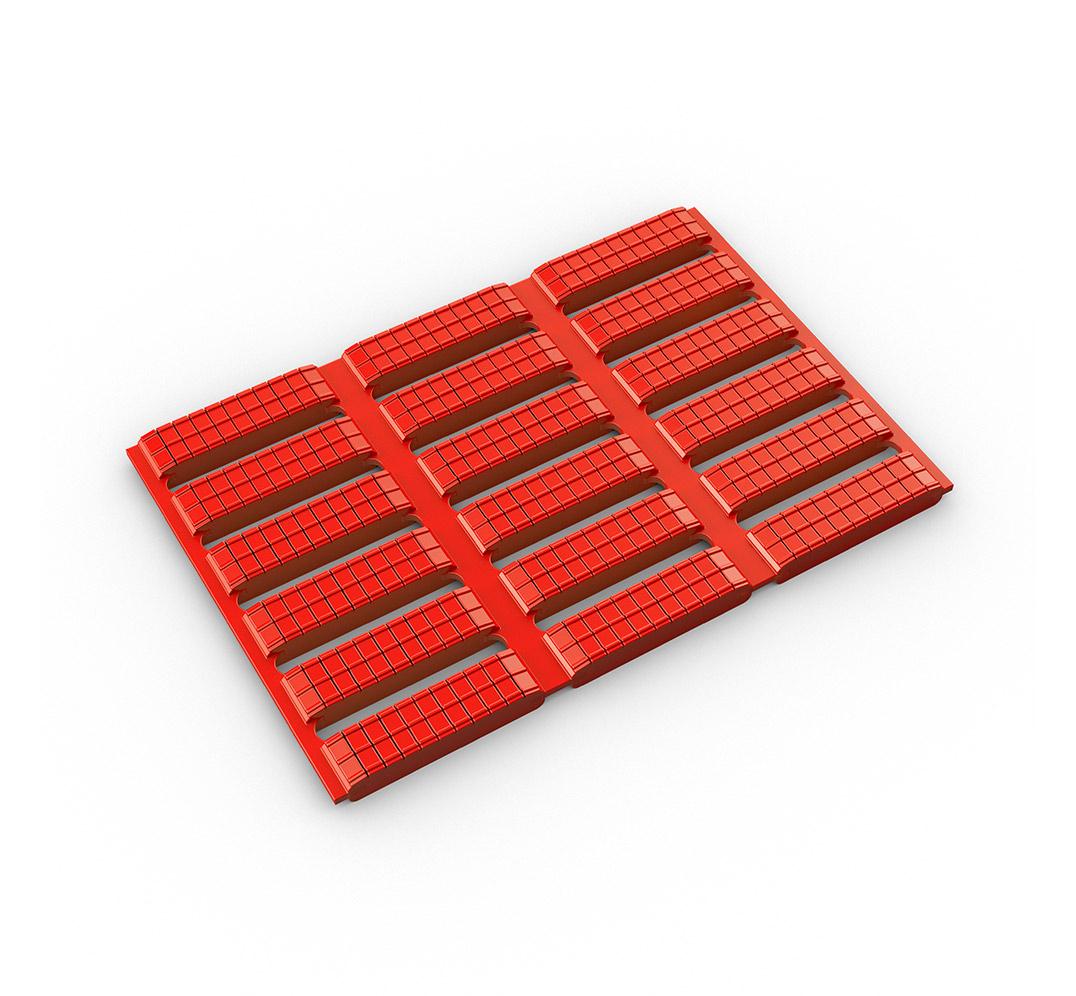 Floorline, muestra en rojo