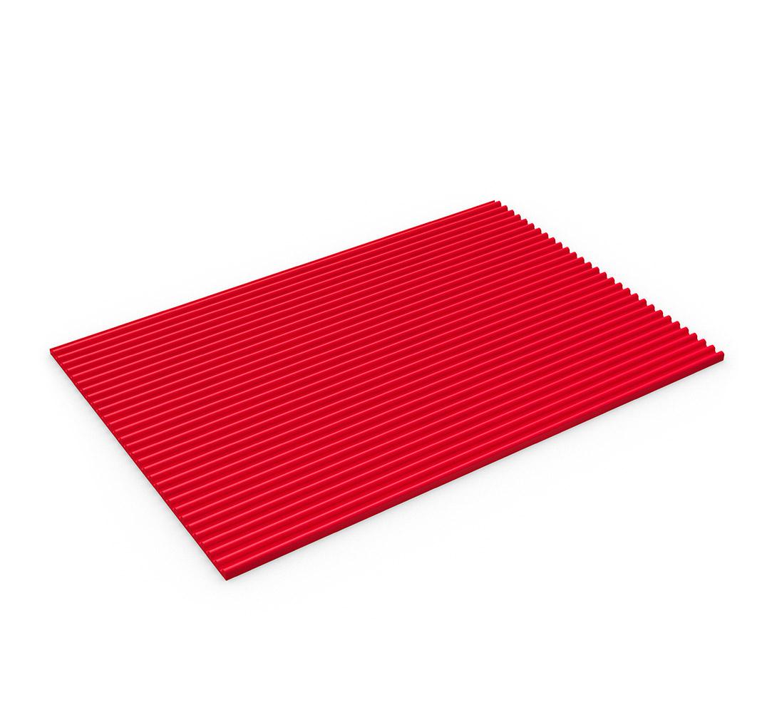 Suelo de vinilo industrial FLEXI LINE - rojo