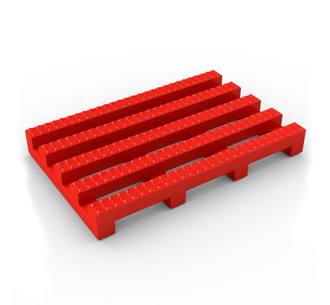 Suelo industrial antideslizante Vynagrip - rojo