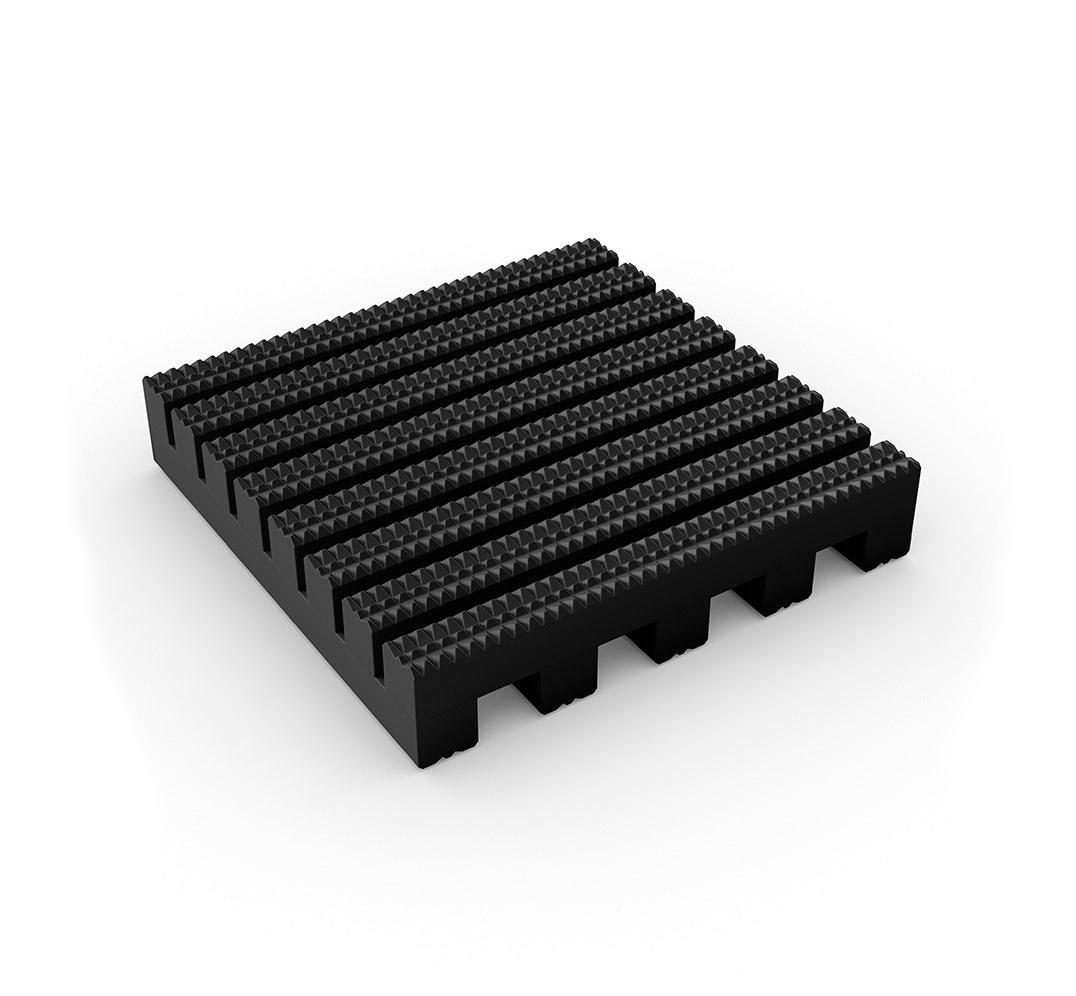 Suelo industrial ruedas Firmagrip - negro