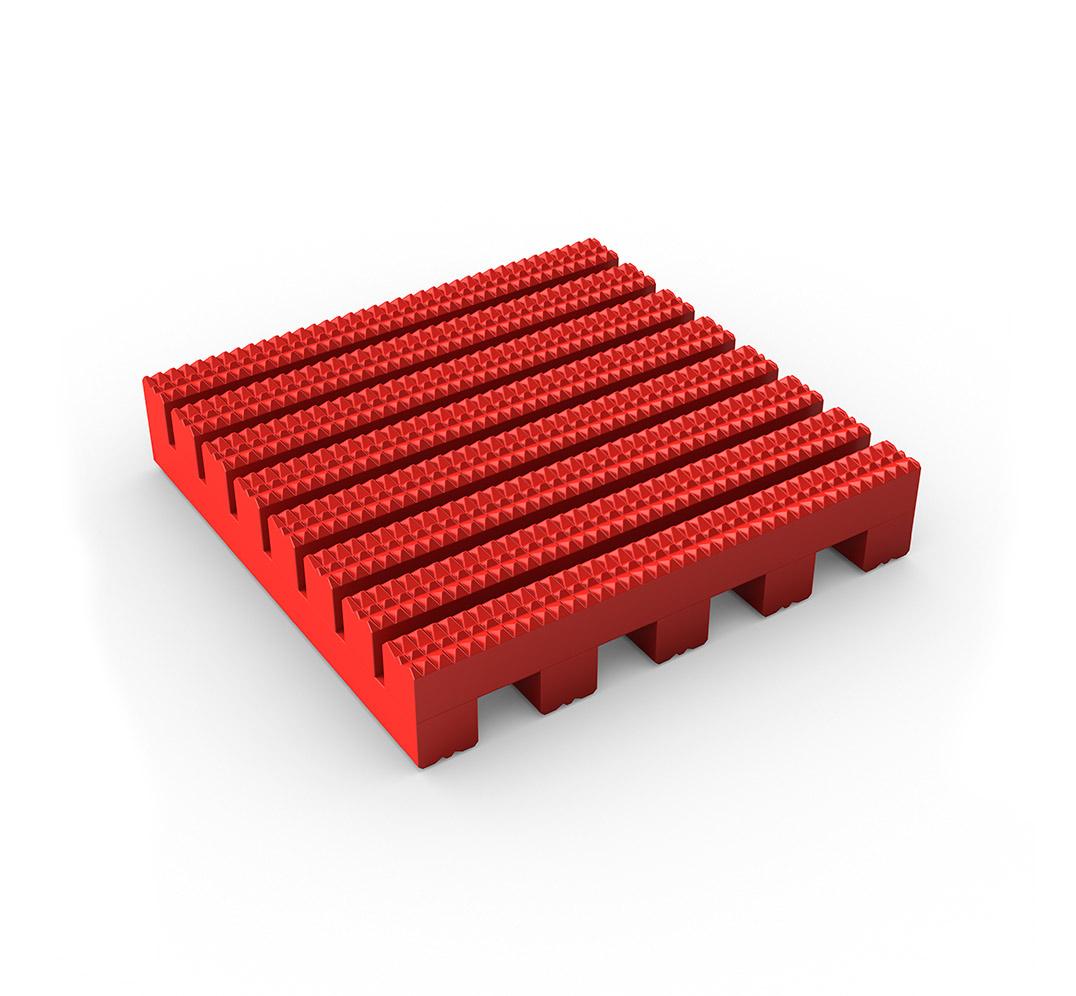 Suelo industrial ruedas Firmagrip - rojo