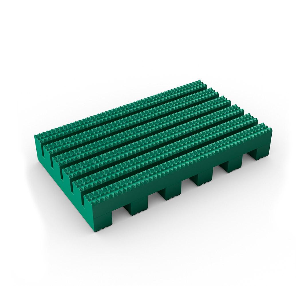 Suelo industrial ruedas Firmagrip - verde